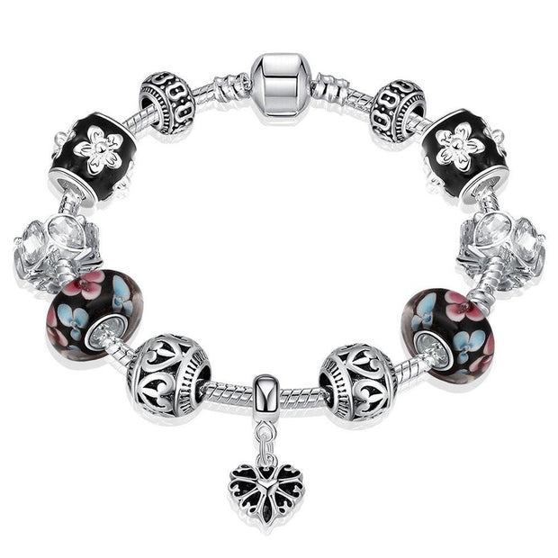 Flower Petals Pandora Inspired Bracelet Made with Swarovski Elements - Lenox Jewelers Corp.