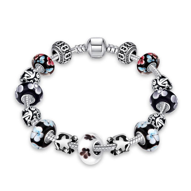 Flower Bundles Pandora Inspired Bracelet Made with Swarovski Elements - Lenox Jewelers Corp.