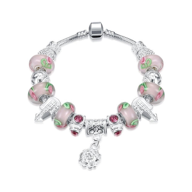 Apple Candy Pandora Inspired Bracelet Made with Swarovski Elements - Lenox Jewelers Corp.