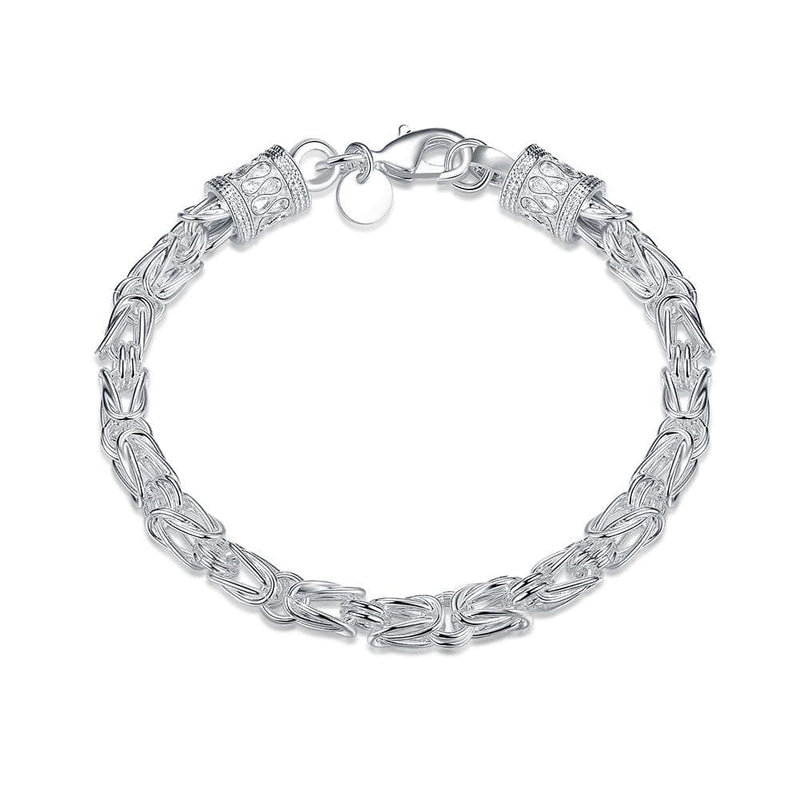 Byzantine Bracelet in 18K White Gold Plated - Lenox Jewelers Corp.