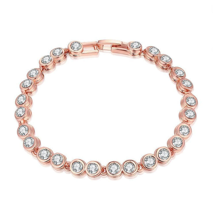 Around the World 18K Rose Gold Plated Bracelet - Lenox Jewelers Corp.