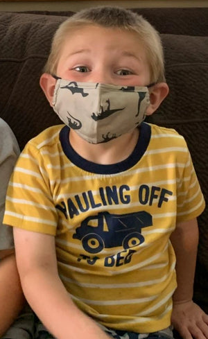 Dinosaur Face Covering for Kids - Essential Gear Products