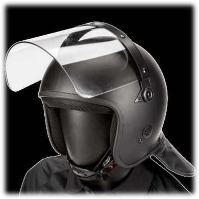 Riot Helmet - Straight Face Shield