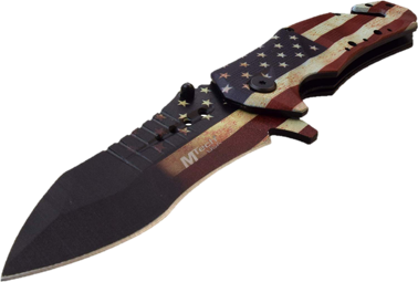 American Flag MT-A845 Spring Assist Folding Knife