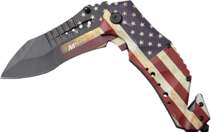 American Flag Spring Assist Folding Knife
