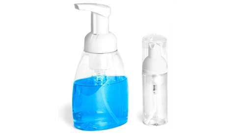 Plastic Clear Bottles with Foamer Pumps