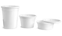 Plastic White Polypro Tubs with Lids
