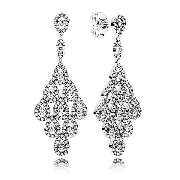 925 Sterling Silver Hanging Stud Earring