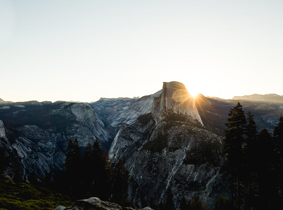 Trail running in Yosemite national park