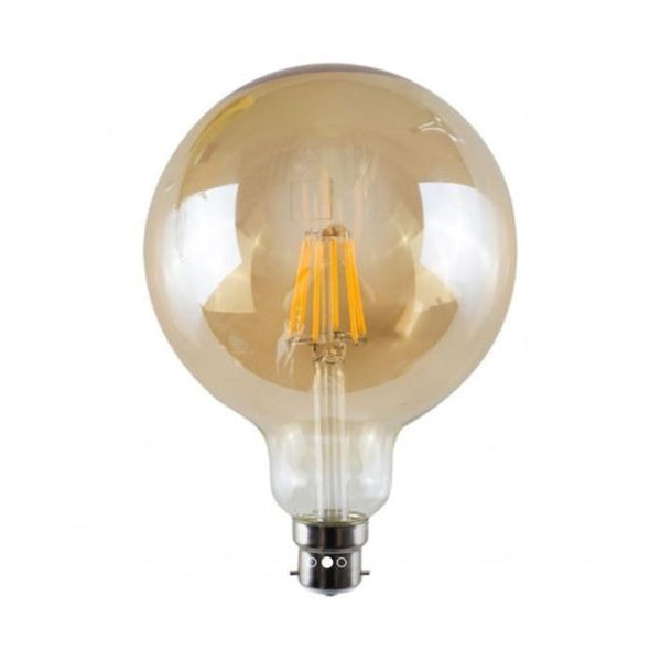 LED G125 B22 8W Dimmable Globe Industrial Vintage Bulb - Vintagelite