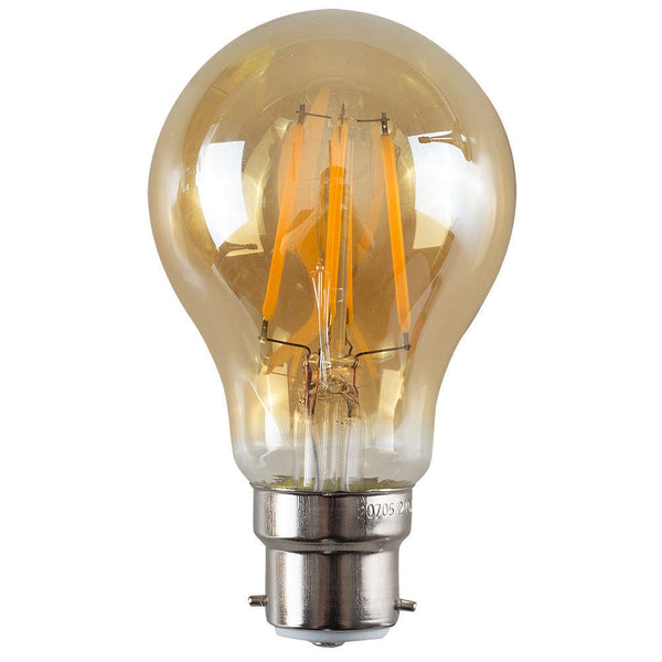 LED A60 B22 6W Dimmable Globe Industrial Vintage Bulb - Vintagelite
