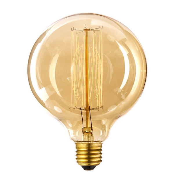 Dimmable G125 E27 40W Globe Industrial Vintage Filament Bulb - Vintagelite