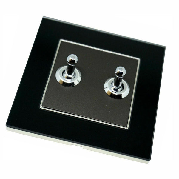 2 Gang Toggle Wall Light Screw less Switch - Vintagelite