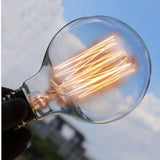 Dimmable G95 B22 60W Globe Industrial Vintage Filament Bulb - Vintagelite
