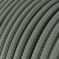 Vintage Grey Fabric 3 Core Round Italian Braided Cable 0.75mm - Vintagelite