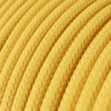 Vintage Yellow Fabric 2 Core Round Italian Braided Cable 0.75mm - Vintagelite