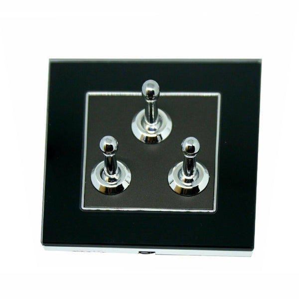3 Gang Switch Wall Light Toggle Screw less - Vintagelite