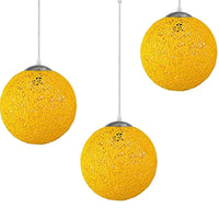 Yellow Multi Outlet Ball Industrial Ceiling Lamp