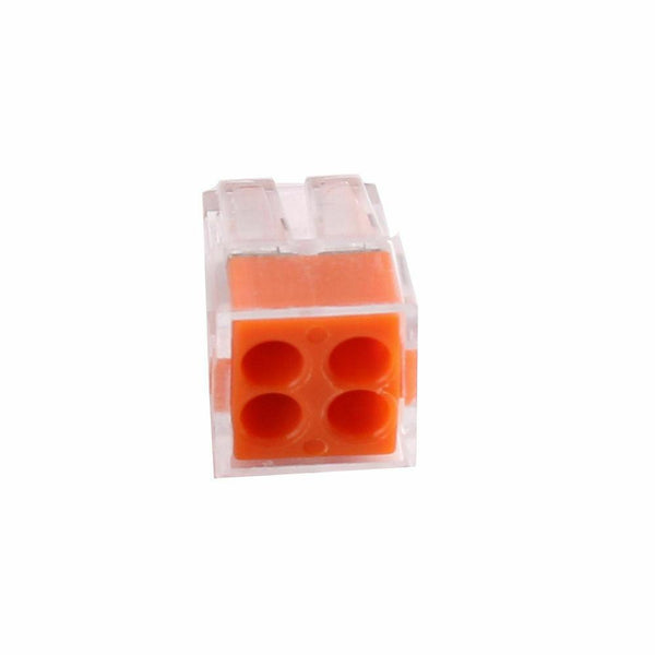 4Way Connector Wire Pole Push Reusable Terminal Block Electric Cable