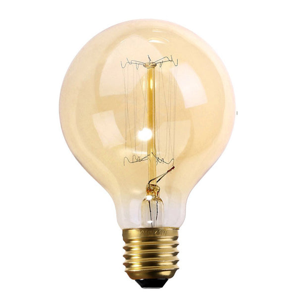 Dimmable G80 E27 60W Globe Industrial Vintage Filament Bulb - Vintagelite