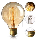 Dimmable G95 E27 60W Globe Industrial Vintage Filament Bulb - Vintagelite