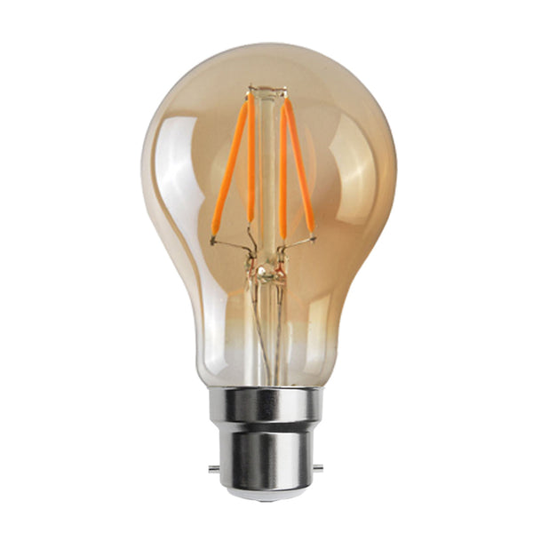 LED A60 B22 4W Dimmable Globe Industrial Vintage Bulb - Vintagelite