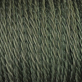 Vintage Army Green Fabric 2 Core Twisted Italian Braided Cable 0.75mm - Vintagelite
