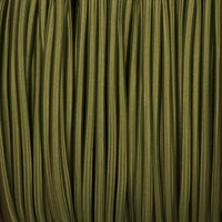Vintage Army Green Fabric 3 Core Round Italian Braided Cable 0.75mm - Vintagelite