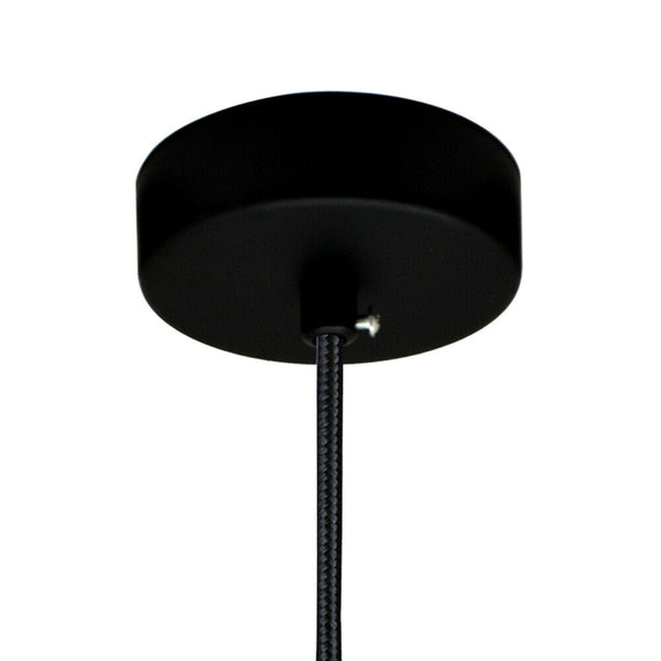 Black Vintage Ceiling Rose Single Point Drop Outlet Light Fitting - Vintagelite