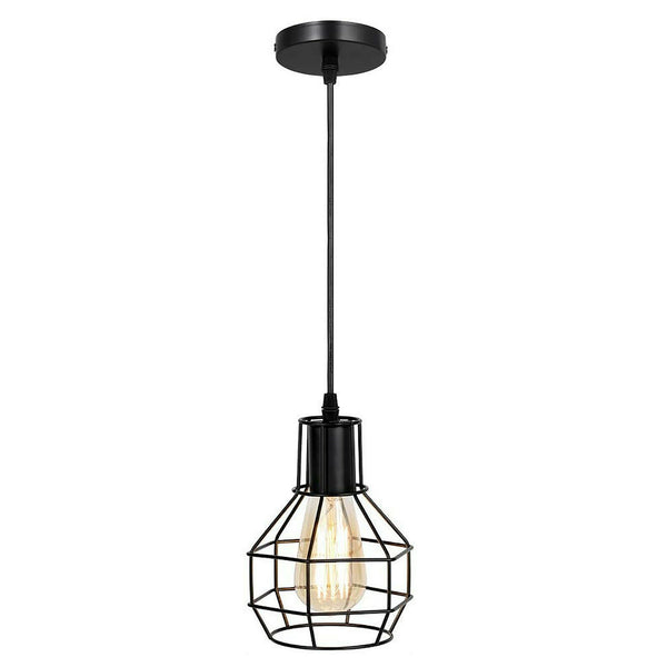 Nest Wire Cage Ceiling Pendant Black Cluster Light Fitting - Vintagelite