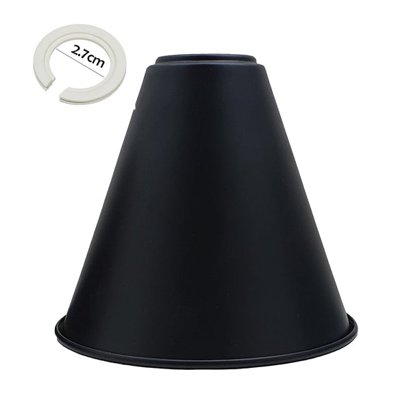 Black | Cone Shape Metal Lamp Shades Easy Fit Pendant Light Shade - Vintagelite