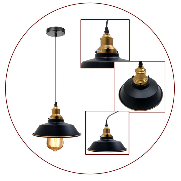 Metal Industrial Hanging Lights Kitchen Cafe Restaurant Ceiling Fixture Loft Bar Living Room