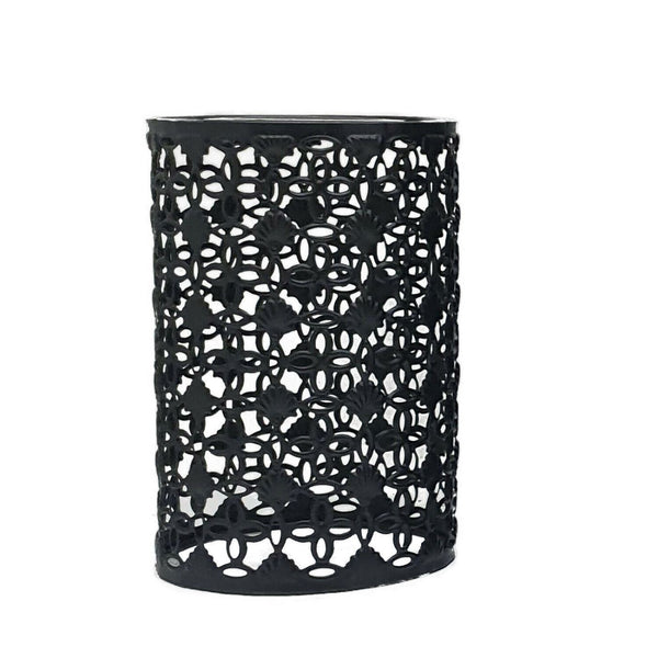 Black Colour Drum Lampshade Modern Metal Shade Retro Style - Vintagelite