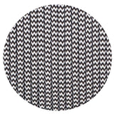 Vintage Black And White Fabric 2 Core Round Italian Braided Cable 0.75mm - Vintagelite