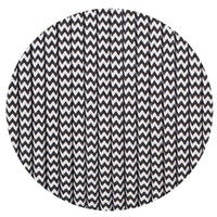 Vintage Black And White Fabric 3 Core Round Italian Braided Cable 0.75mm - Vintagelite