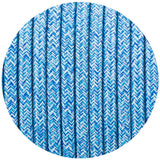 Vintage Blue Multi Tweed Fabric 3 Core Round Italian Braided Cable 0.75mm - Vintagelite