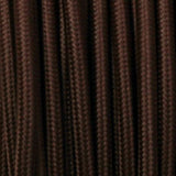 Vintage Dark Brown Fabric 3 Core Round Italian Braided Cable 0.75mm - Vintagelite