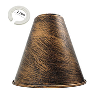 Brushed Copper Cone Shape Metal Lamp Shades Easy Fit Pendant Light Shade - Vintagelite