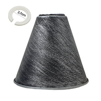 Brushed Silver Cone Shape Metal Lamp Shades Easy Fit Pendant Light Shade - Vintagelite