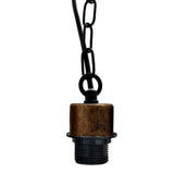 Brushed Copper e27 holder with black chain