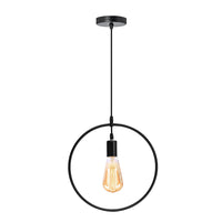 Circle Shape Wire Ceiling Pendant Light Lamp Shade - Vintagelite