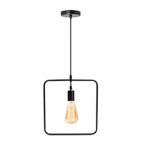 Square Shape Wire Ceiling Pendant Light Lamp Shade - Vintagelite