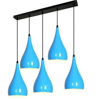Metal 5 Way Blue Color Ceiling Light Fitting Light Design Lighting