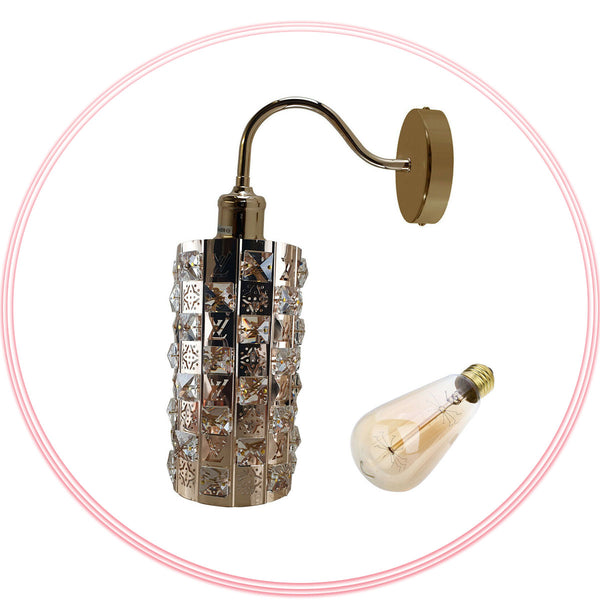 French Gold Crystal Wall Light Lamp UK