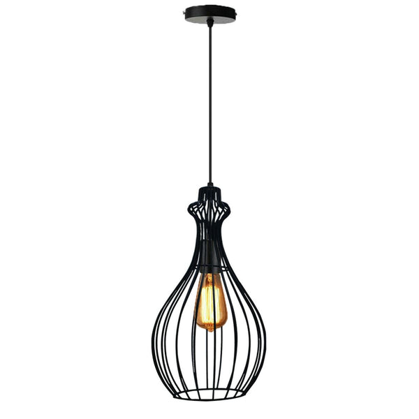 Ceiling Pendant Light Industrial Retro Vintage Pendant Black Color Lamp Shade Kitchen Lights - Vintagelite