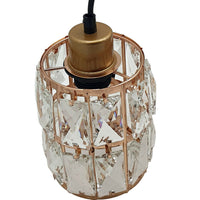 Three Droplet Rectangle Ceiling Chandelier Crystal Pendant Light Lampshade - Vintagelite