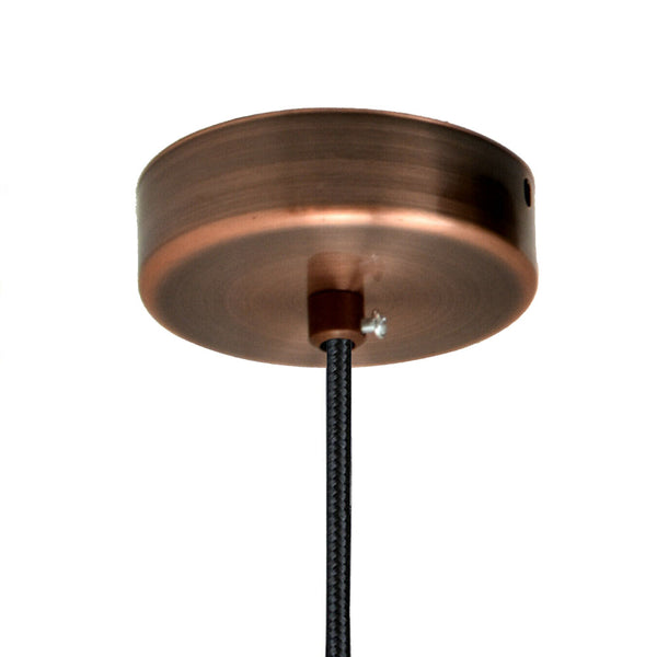 Copper Vintage Ceiling Rose Single Point Drop Outlet Light Fitting - Vintagelite