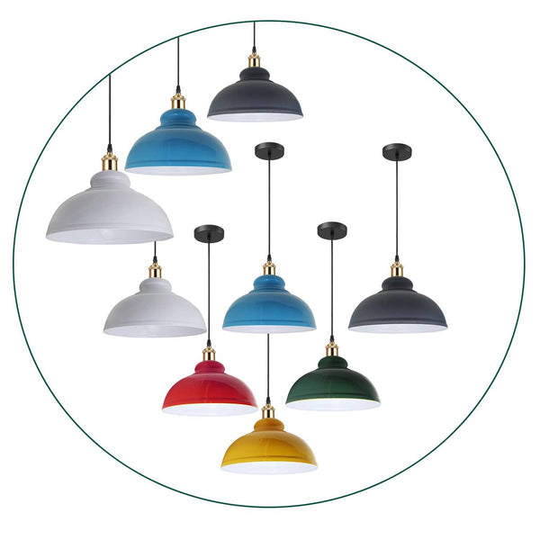 Retro Pendant Light Shade Vintage Industrial Ceiling Lighting LED Restaurant Loft
