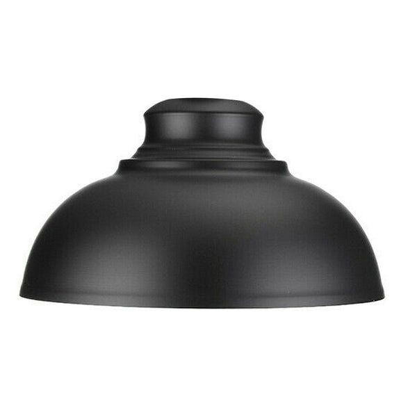 Black Metal Retro Ceiling Pendant Light Shade Easy Fit Vintage Cafe Kitchen Lampshade