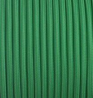 Vintage Green Fabric 2 Core Round Italian Braided Cable 0.75mm - Vintagelite